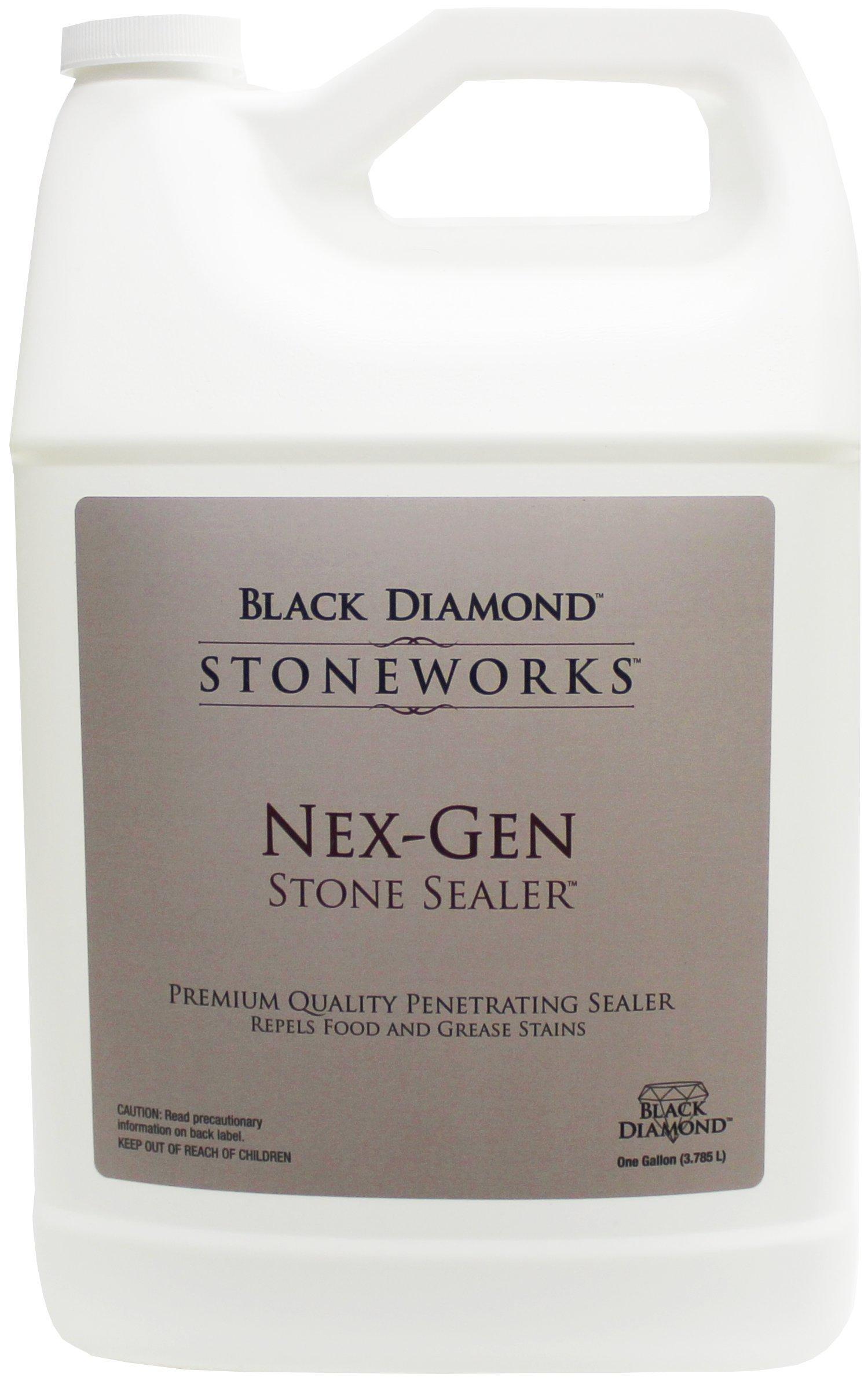 Black Diamond Stoneworks 679773003114 Nex-Gen Stone Sealer Penetrating Sealer, Seals and Protects Granite, Marble, Travertine, Limestone, Grout, Tile, Brick and Slate, 1- Gallon