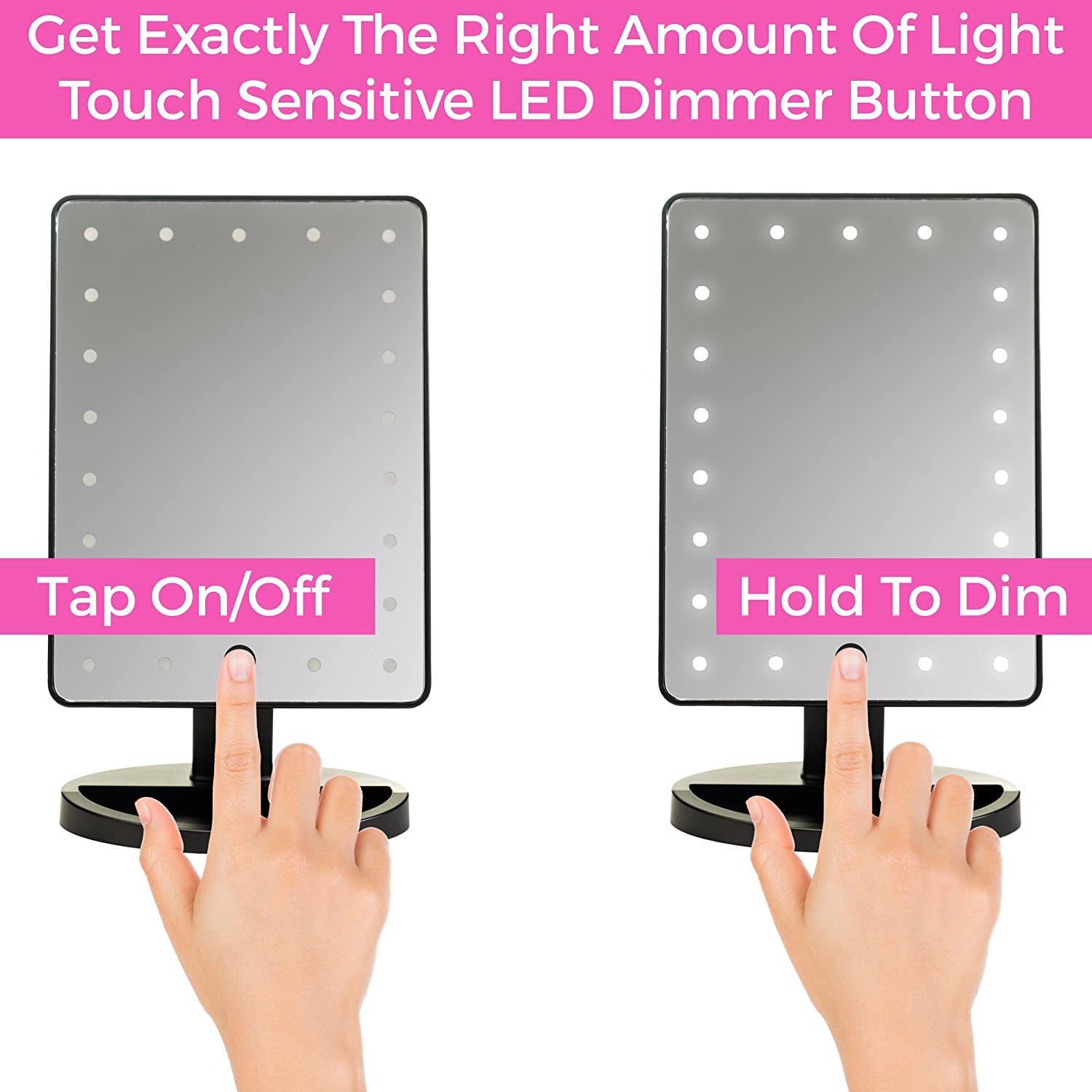 Portable Convenience and High Definition Clarity Cosmetic Mirror