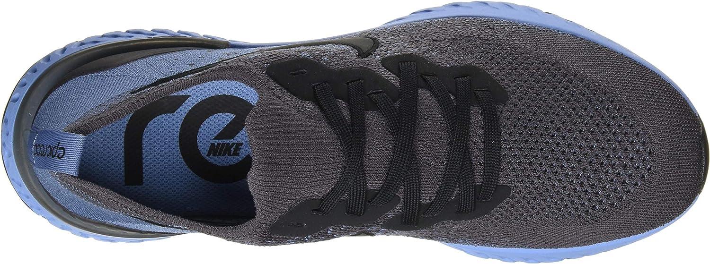 Nike Men's Epic React Flyknit 2 Trail Running Shoes Multicolour Thunder Grey Black Ocean Fog Ashen Slate 12