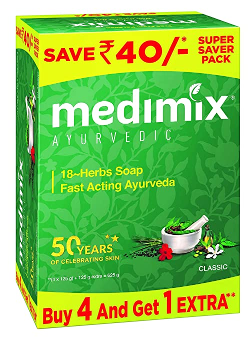 pack Of 3 Medimix Ayurvedic Soap With 18 Herbs 125 G