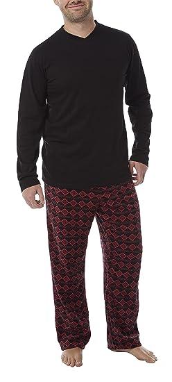 Harvey James da Uomo Morbida Quadri Pile Pigiama Pantaloni da casa