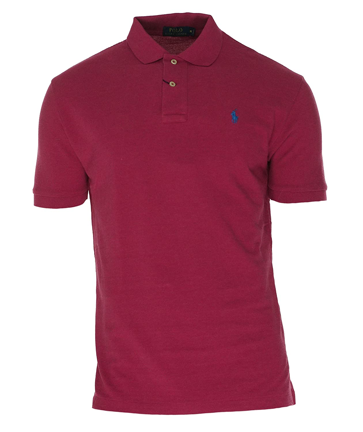 Polo Ralph Lauren Mens Custom Fit Short Sleeves Polo Shirt Large)