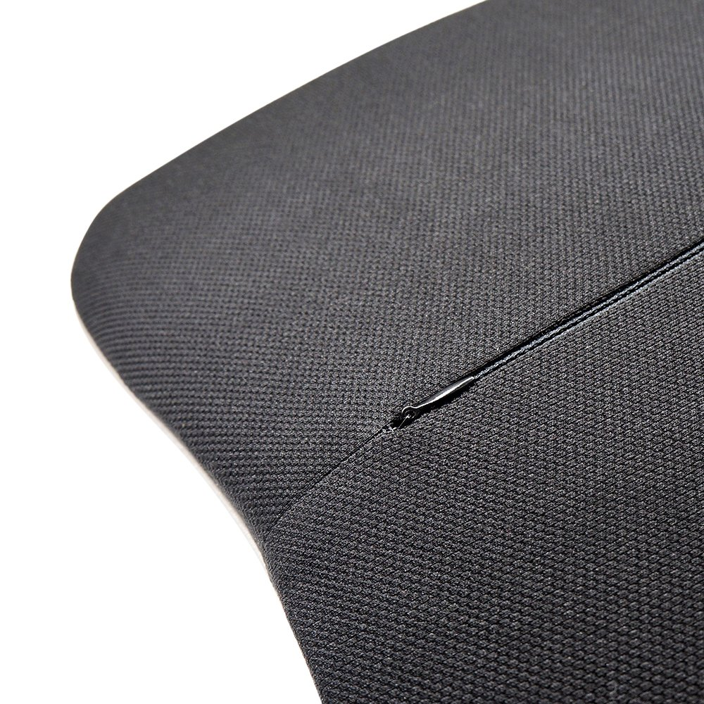 LOCEN Premium Memory Foam Lumbar Back Support Car Cushion - Reduce Back Ache Improve Posture - Black