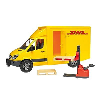 Bruder 02534 Mercedes Benz MB Sprinter DHL Delivery Truck with Hand Pallet Jack: Toys & Games