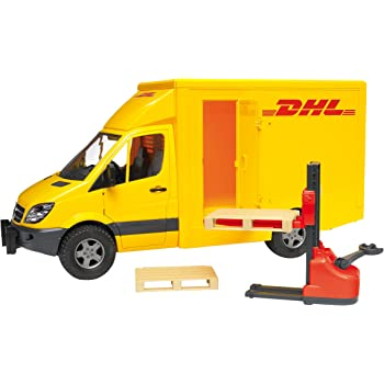 Amazon Com Bruder Mb Sprinter Dhl Truck With Hand Pallet