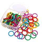 ninahouse Plastic Loose- Leaf Rings Multi-Color Binder Rings .Flexible Plastic Book Rings for Scrapbook Notebook Keychain Pack of 100( Product Thickness :0.177inch)
