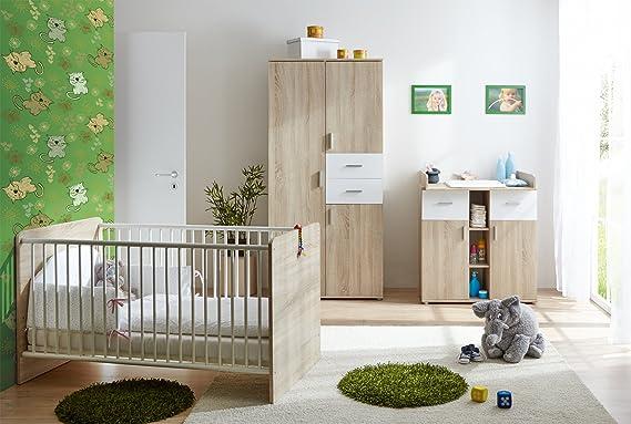 Ticaa Etagenbett Rene Weiß : Ticaa babyzimmer nico 3 teilig sonoma weiß: amazon.de: küche & haushalt
