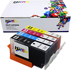 HIINK Compatible Ink Cartridge Replacement for HP 564 564XL ink used in Photosmart 5520 6520 7520 5510 6510 7510 7525 B8550 C6380 D7560 Premium C309A C410 Officejet 4620 Deskjet 3520(1B1C1M1Y, 4-Pack)