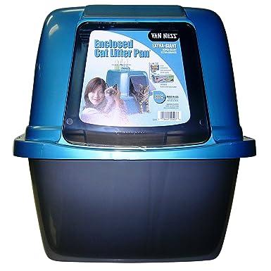 Kennelpak Limited - Van Ness caja de arena cerrada para gatos (colores al azar)