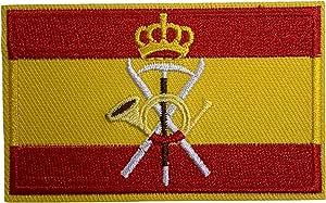 Parche Bandera de España Emblema de las tropas de montaña 8x5 cm   Muy Adherentes   Patch Stickers Para Decorar Tu Ropa   Fáciles de Poner en ...