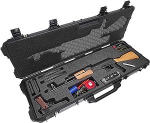 Case Club AK-47 Pre-Cut Waterproof Rifle Case with Accessory Box and Silica Gel to Help Prevent Gun Rust (Gen 2)