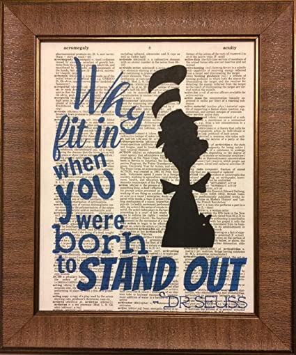 Dr. Seuss Quote Dictionary Book Page Artwork Print Picture Poster Home  Office Bedroom Wall Decor