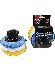 Kent Car Care Polish Applicator Pads with Handle  3 Pack