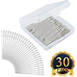 SUBANG 30 Pcs Needles Large-Eye Blunt Sewing Needles Quilting Yarn Needles Stainless Steel Sewing Knitters