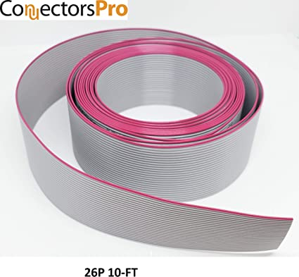 uxcell IDC 34 Pins Wire Flat Gray Ribbon Cable 128cm 2.54mm Pitch