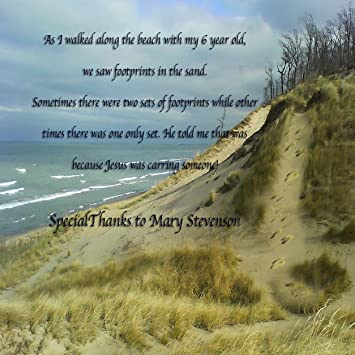 Amazoncom Footprints In The Sand Huge Beautiful Wall Quotes