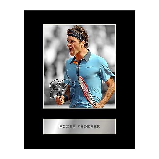 Roger Federer firmado foto enmarcada: Amazon.es: Hogar