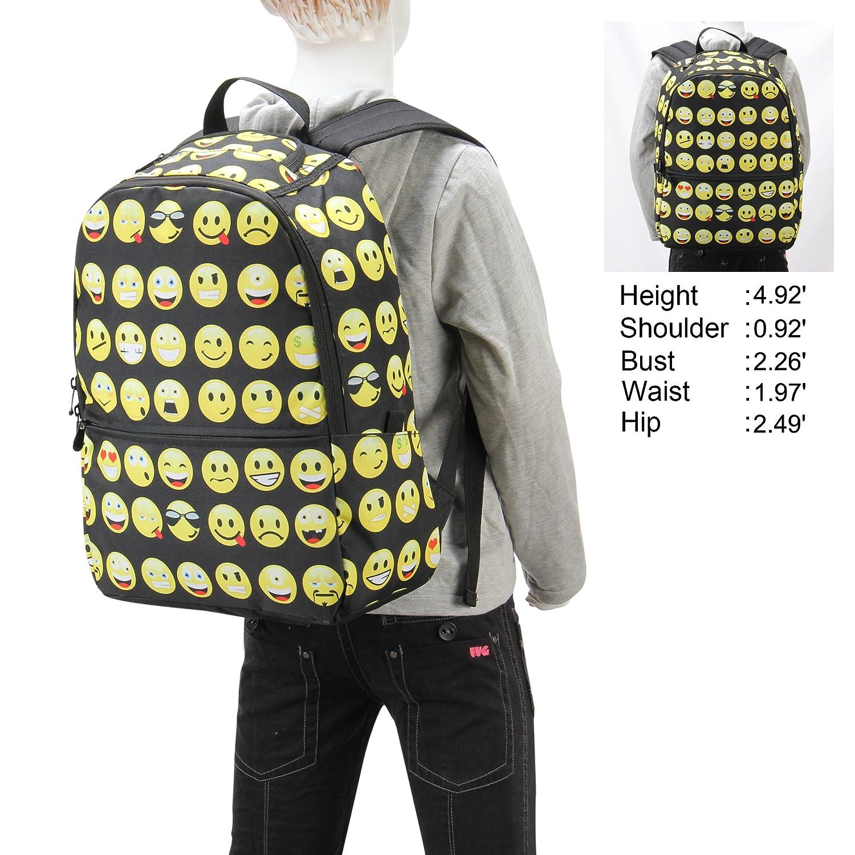 hynes eagle emoji kids school backpack black