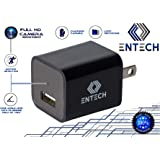 USB Hidden Camera - Nanny Camera USB Charger Spy Camera - by Entech Full 1080P w/ 32GB Internal Memory - Motion Sensor - Mini Hidden Cameras Wall Charger - Home Security - High Definition