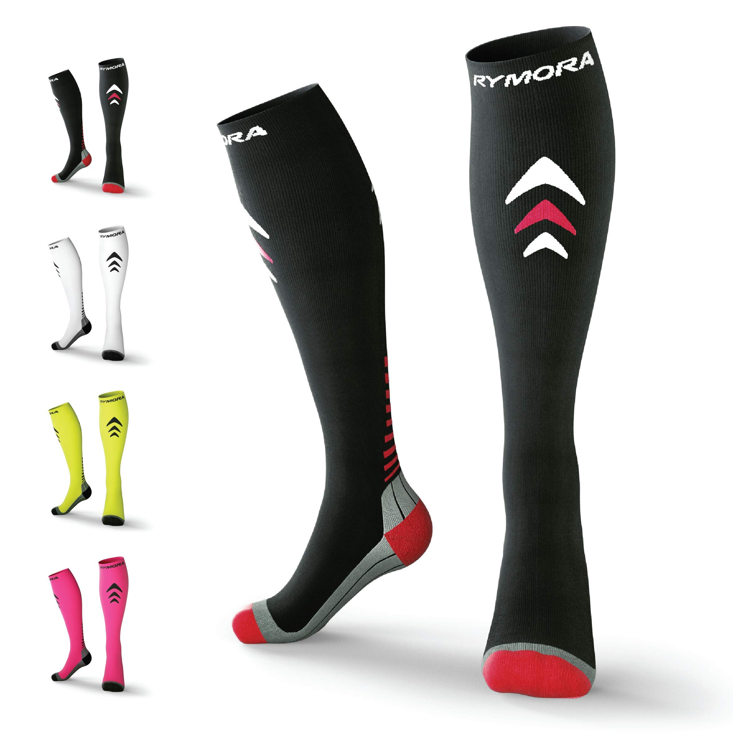 24f4b3720d Rymora Compression Socks (Cushioned, Graduated Compression, Ergonomic fit  for Men and Women,
