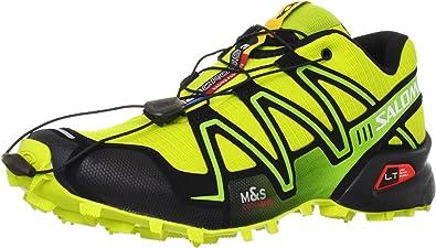 SALOMON Speedcross 3 Zapatilla de Trail Running Caballero, Amarillo/Negro, 48: Amazon.es: Zapatos y complementos