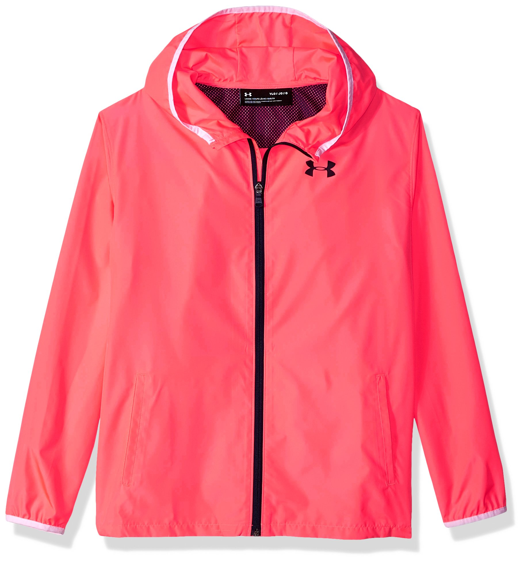 Under Armour Girls Sack Pack Full Zip Jacket, Brilliance (819)/Academy, Youth Small by Under Armour