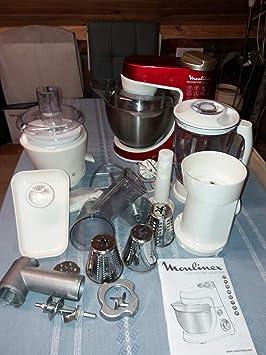 MOULINEX MASTERCHEF GOURMET-Robot DE COCINA, COLOR ROJO: Amazon.es: Electrónica