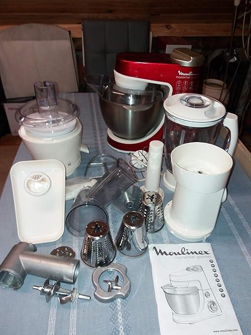 MOULINEX MASTERCHEF GOURMET-Robot DE COCINA, COLOR ROJO: Amazon.es ...