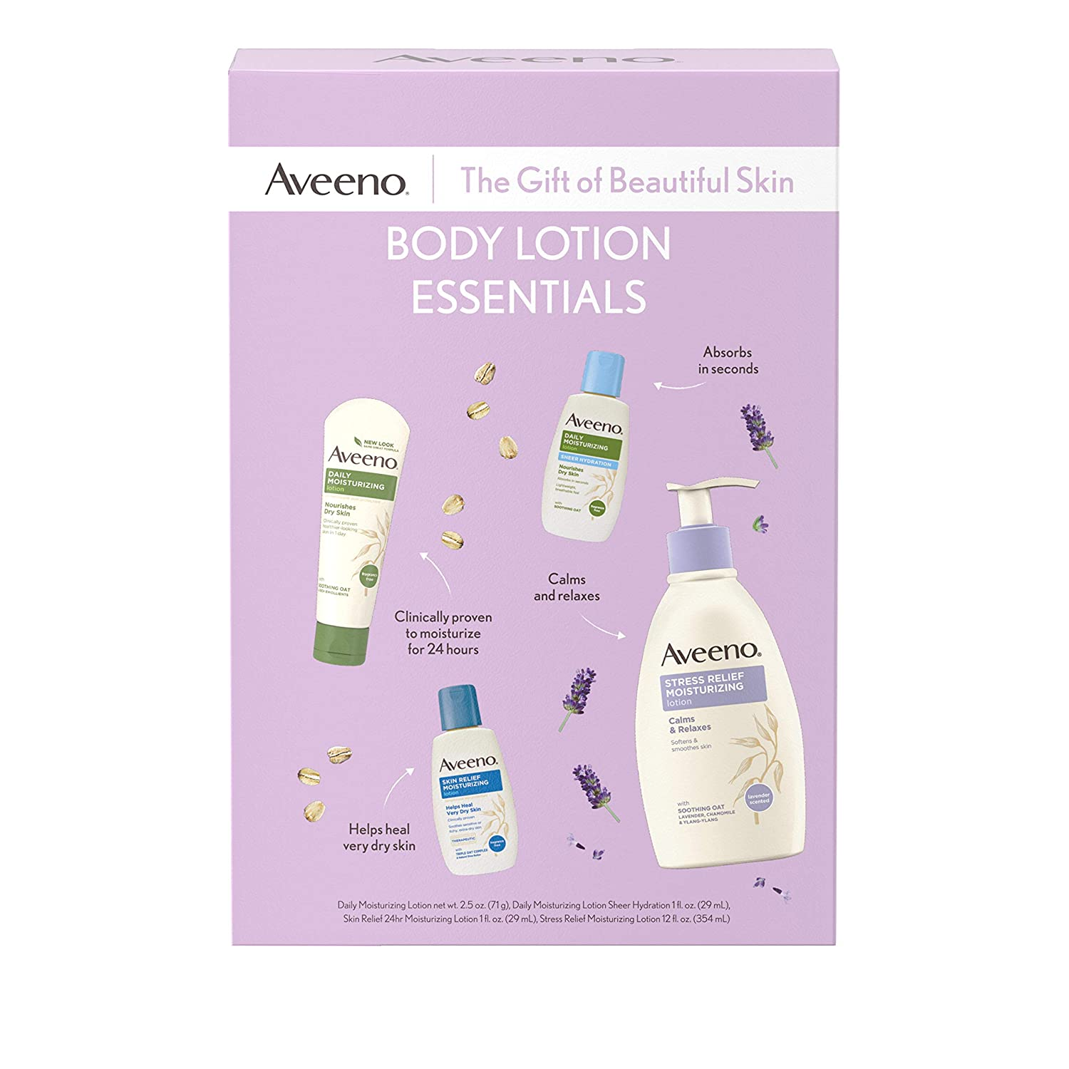 Aveeno Body Lotion Essentials Skincare Gift Set