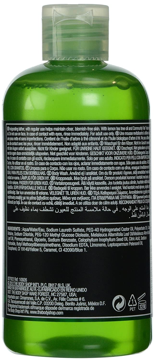 Amazon Com The Body Shop Tea Tree Body Wash 8 4 Fluid Ounce Prime
