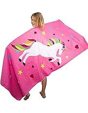 Tuvizo Unicorn Toalla de Microfibra para Playa, baño, Piscina y Juego, Unicornio para