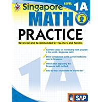 Singapore Math – Level 1A Math Practice Workbook for 1st, 2nd Grade Math, Paperback, Ages 7–8 with Answer Key (Singapore Math Practice)
