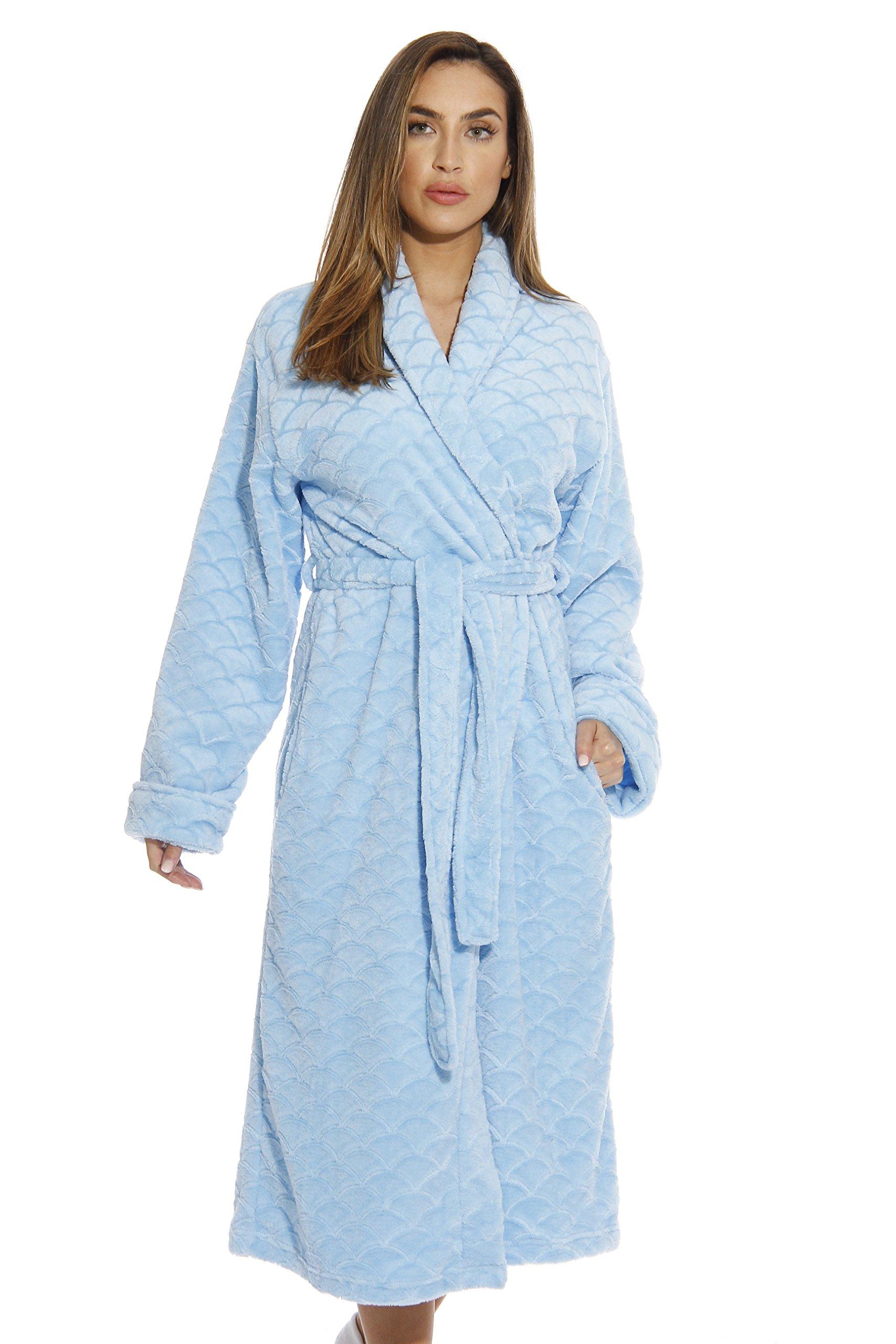 6340-Lt Blue-3X Just Love Kimono Robe / Bath Robes for Women
