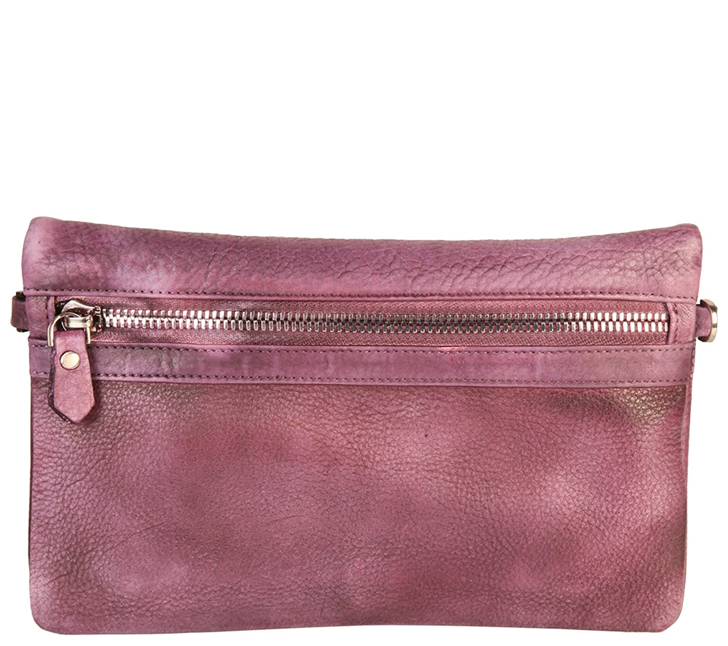 Diophy Vintage-Dye Fashion Genuine Leather Convertible Clutch 150227