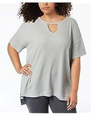 Calvin Klein Womens Waffle Knit Asymmetric T-Shirt