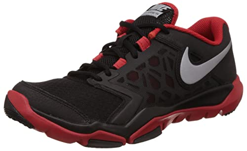 63b88864d89 Nike Men s Flex Supreme TR 4 Cross Trainer BLACK CHALLENGE RED  MTLC ...