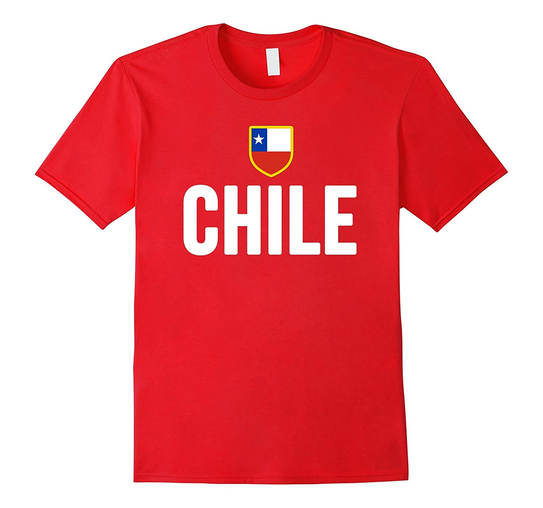CHILE T-shirt Chilean Flag Pride Tee Futbol Soccer Football-Vaci