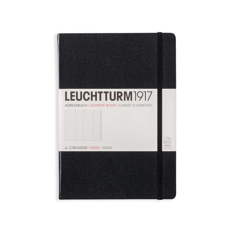 Adressbuch Medium A5 schwarz Leuchtturm Albenverlag B002CWD8US 330862 Sonstiges (Adreßbücher Blankobooks)
