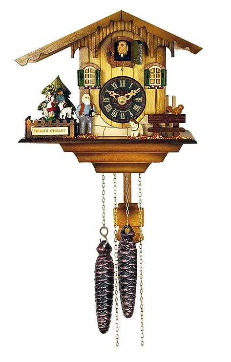 River City Relojes 12 Melody Cuco de Cuarzo Chalet con rotatorio de la Clock-Heidi