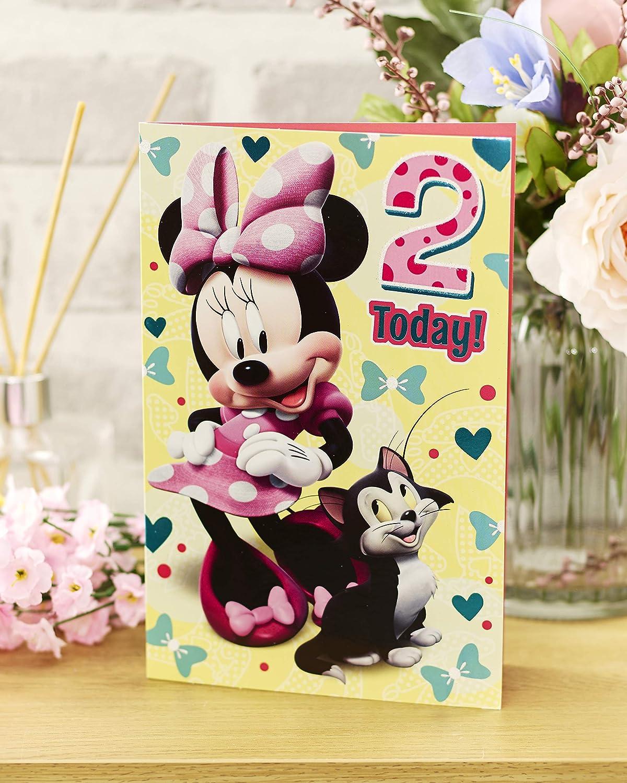 Hallmark Minnie Mouse Age 1st Birthday Greeting Card 1 Today /'Oh My/' Medium
