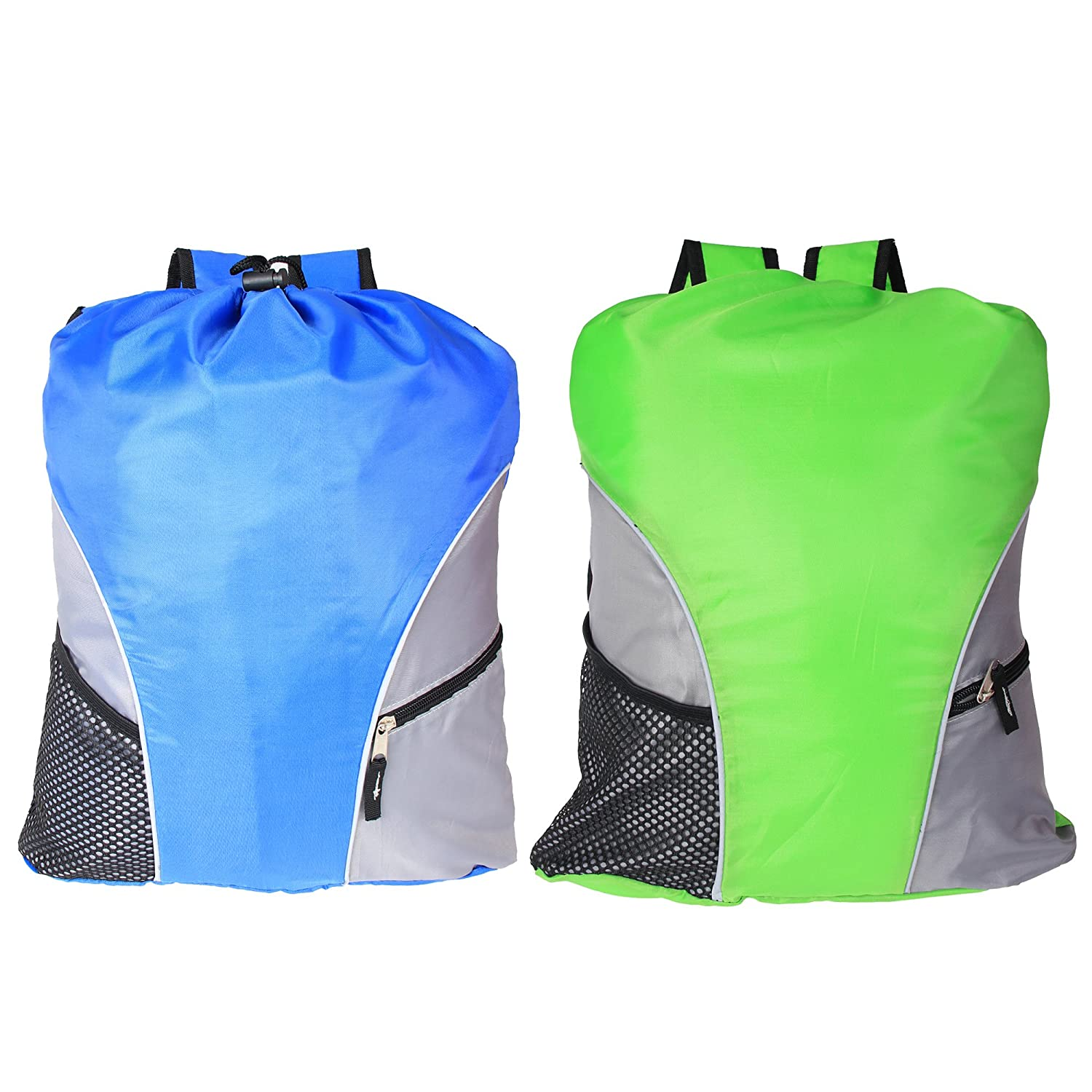 Damero 2Pcs Pack Lightweight Drawstring Sackpack with Straps ... d4ca01a02f202