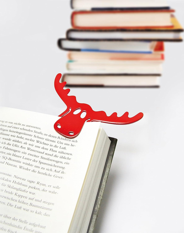 Koziol Rudolf 2er Set Lesezeichen Buchzeichen Bookmark Transparent Olivgrün Rot