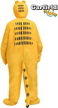 Amazon Com Adult Garfield Costume Medium Orange Clothing