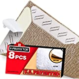 Rug Grippers X-PROTECTOR – Best 8 pcs Anti Curling Rug Gripper. Keeps Your Rug in Place & Makes Corners Flat. Premium…