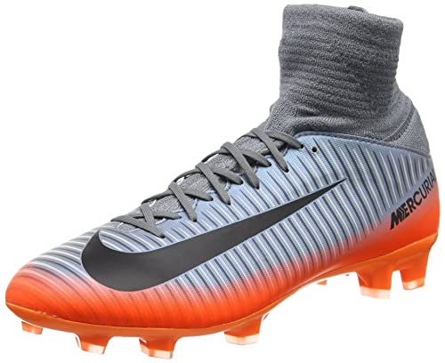 e8384ecdd22f Nike Kids Mercurial Superfly V Cr7 Fg Cool Grey/Metalic Hematite/Wolf Grey  Soccer