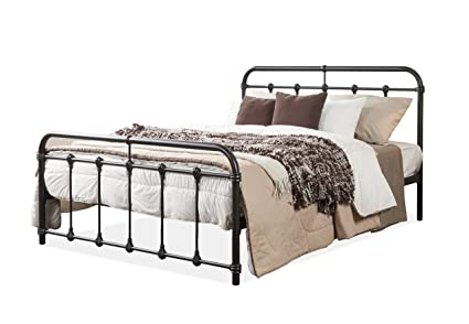 Amazon.com: Wholesale Interiors Mandy Shabby Iron Metal Platform Bed ...