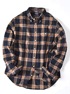 Flannel Buttondown Shirt 121-13-0082: Beige