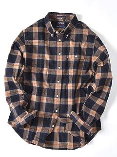 Flannel Buttondown Shirt 121-13-0082: Beige