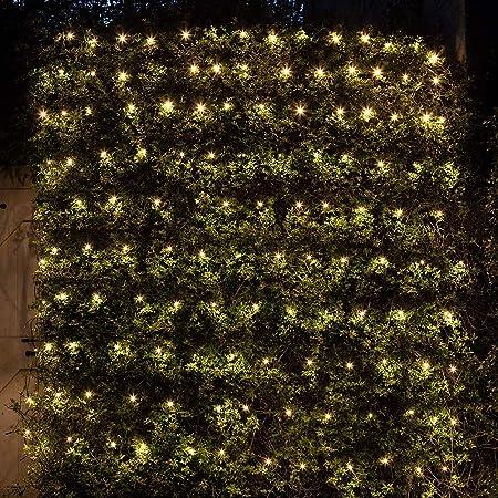 HEIFEN LED Cuadrícula Jardín Luces Luz Navidad Prueba Agua Aire Libre con Los Controladores 8 Modo Adecuado para Festivales Boda Partido Edificios Comerciales Warm White 6M*4M: Amazon.es: Hogar