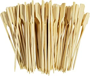 Noa Store 4 Inches Premium Natural Bamboo Picks Paddle Skewers - 200 Count